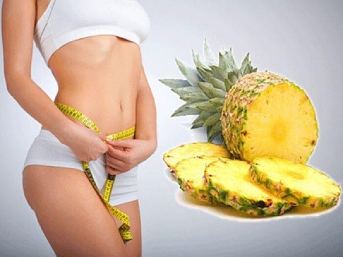 Dứa có tác dụng hỗ trợ giảm cân