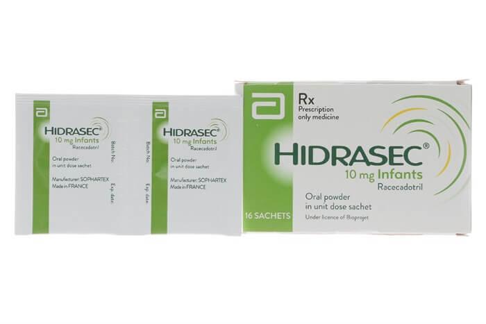 Thuốc Hidrasec theo quy cách đóng gói dạng bột